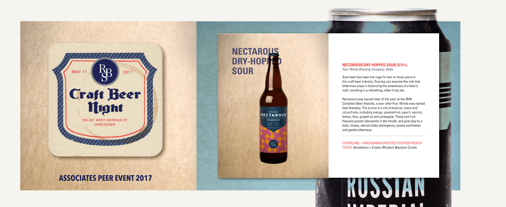 RBS craft beer event artwork